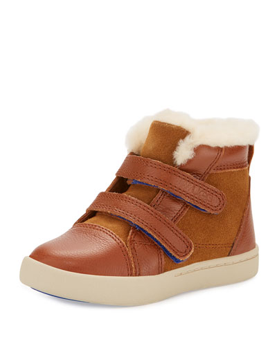 Rennon Leather & Suede Boot, Toddler