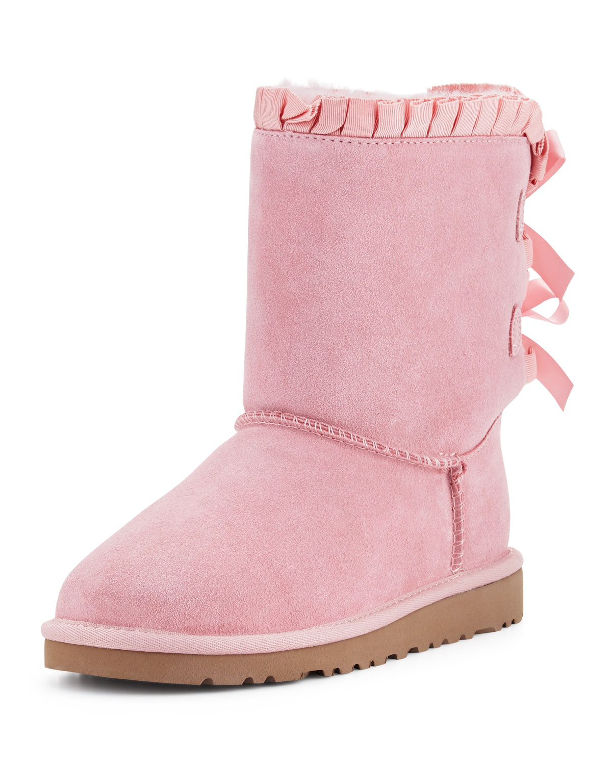 UGG Bailey Ruffle   Bow Suede Boot 4c990d876e3d