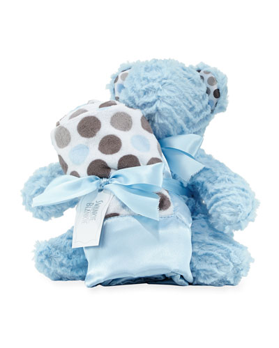 Ziggy Bear & Blanket Gift Set, Blue