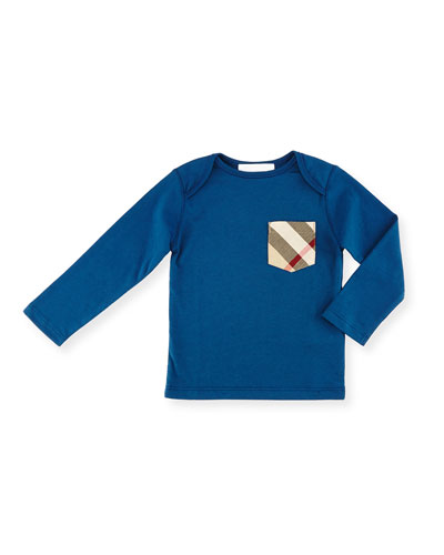 Callum Long-Sleeve Jersey Tee, Mineral Blue, Size 6M-3Y