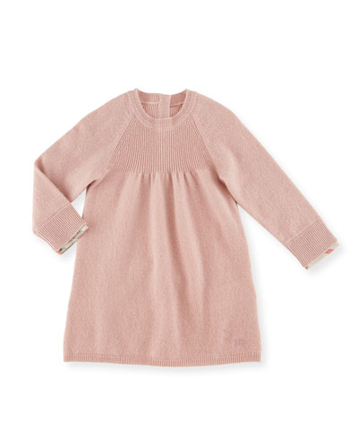 Ivanna Cotton Shift Dress, Pale Ash Rose, Size 6M-3Y