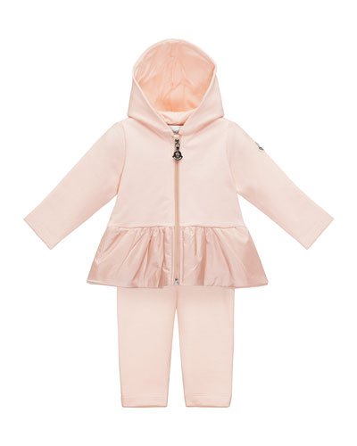 Hooded Two-Piece Track Suit, Light Pink, Size 6M-3
