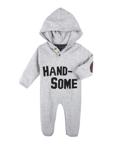 Handsome Hooded Coverall, Gray, Size 3-24 Months