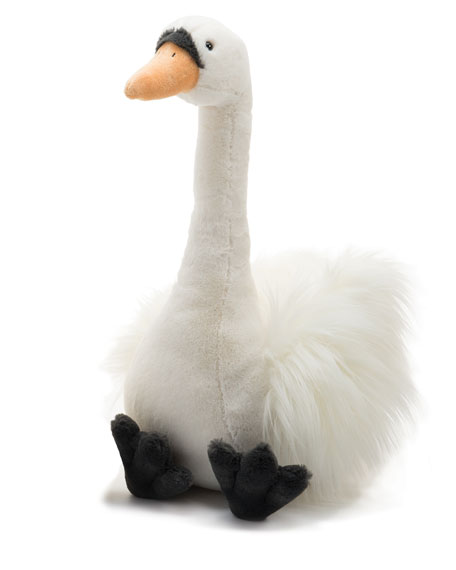 Solange Swan Large Stuffed Animal, White