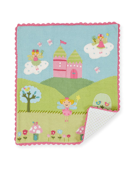 Kids' Enchanted Castle Scalloped Blanket