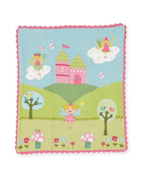 Kids' Enchanted Castle Scalloped Blanket