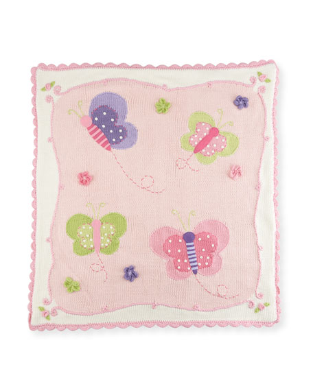 Kids' Butterfly Scalloped Blanket