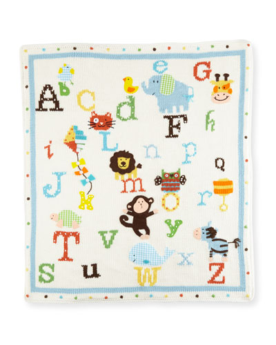 Alphabet Soup Knit Blanket