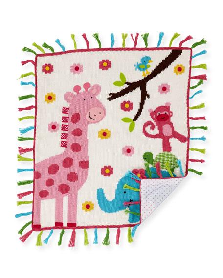 Kids' Jungle Mania Tassel Blanket