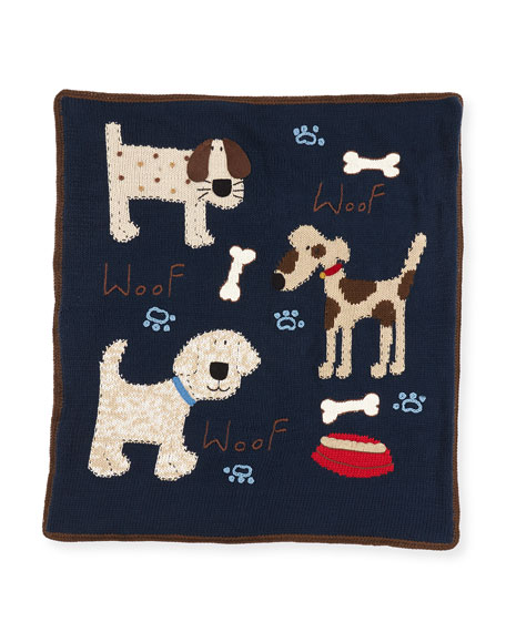 Art Walk Kid's Woof Woof Knit Blanket