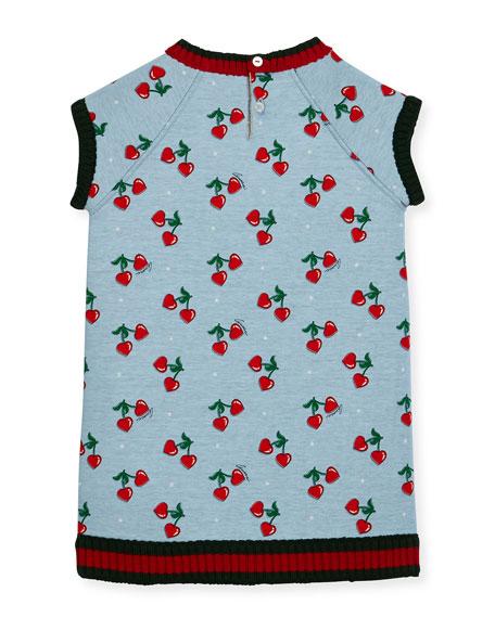 Heart Cherries Raglan Jersey Dress, Size 3-36 Months