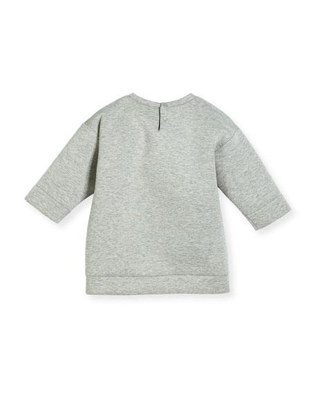 Heathered Neoprene Tiger Sweatshirt, Light Gray, Size 3-24 Months