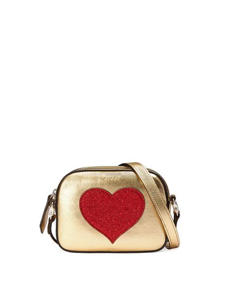 Gucci Girls' Metallic Leather Crossbody Bag, Gold