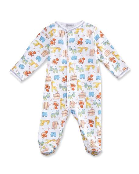 Born to Run Animal Printed Footie Pajamas, Yellow, Size Newborn-9 Months