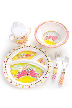 MacKenzie-Childs Toddlers' Bunny Dinnerware Set