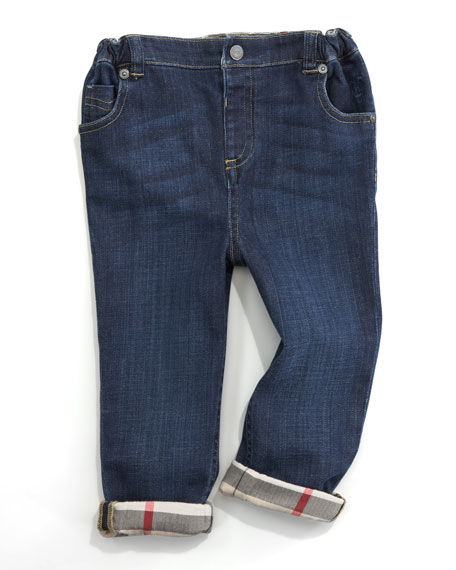 Five-Pocket Denim Trousers, 6 Months-2Y