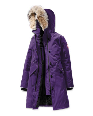 2bbc5609d8e89 Canada Goose Youth Brittania Parka with Removable Fur Trim