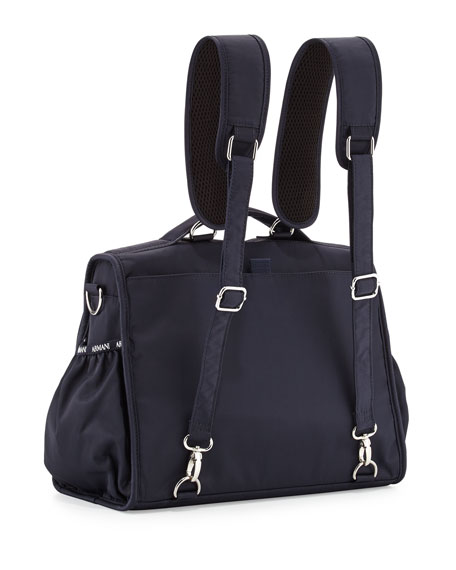 603b77c8d6a03 Armani Junior Nylon Backpack Diaper Bag, Navy | Neiman Marcus