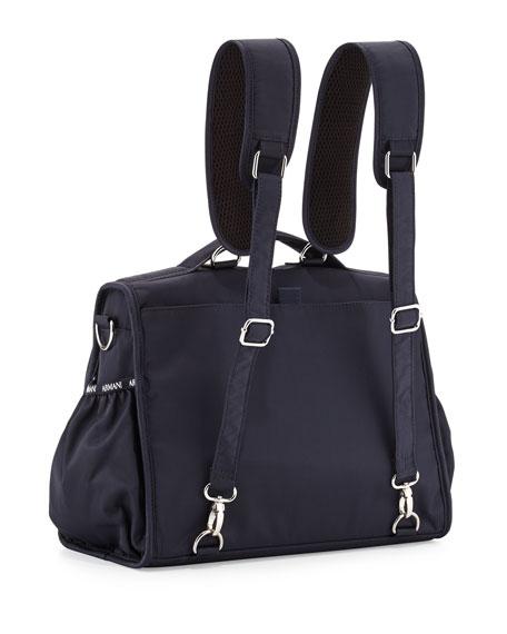armani junior nylon backpack diaper bag navy. Black Bedroom Furniture Sets. Home Design Ideas