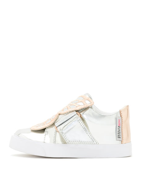 Bibi Butterfly Low-Top Sneaker, Silver/Multi, Toddler/Youth