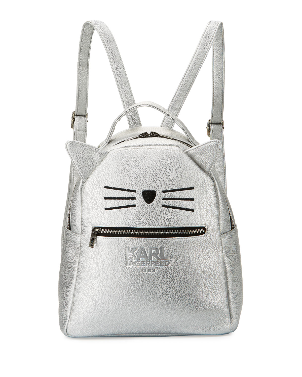e9cfb24610f9 Karl Lagerfeld Metallic Faux-Leather Choupette Backpack