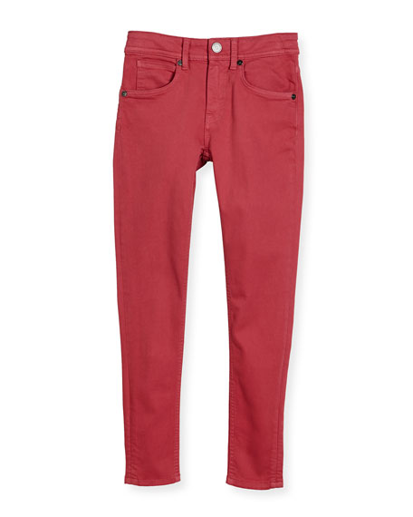 Skinny Stretch Denim Jeans, Pink, Size 4-14