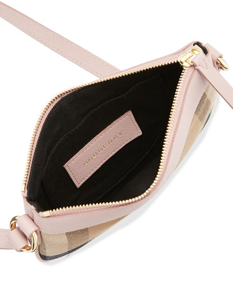 Burberry Leather Trim Crossbody Bag