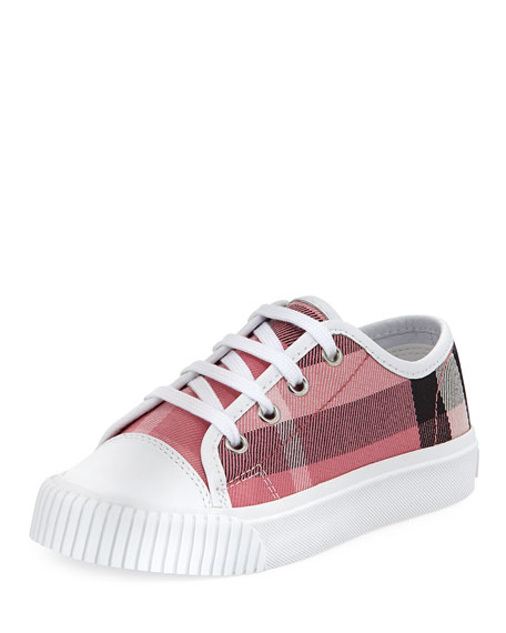 Burberry Check Low-Top Sneaker, Toddler
