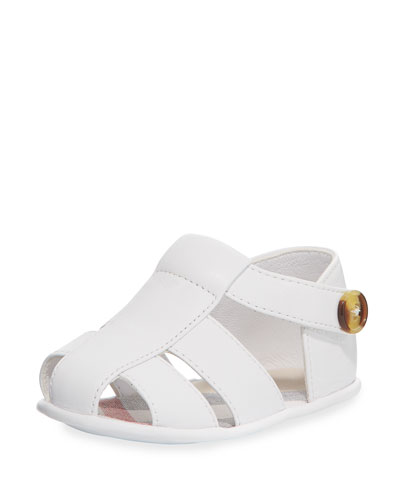 Rockley Leather Sandal, White, Infant