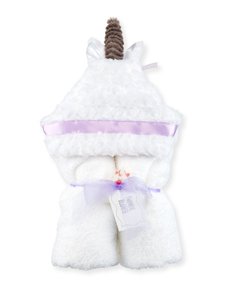 Swankie Blankie Unicorn Hooded Towel, White