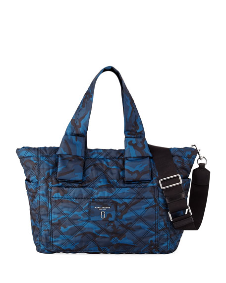 Marc Jacobs Quilted Camo Baby Bag, Blue