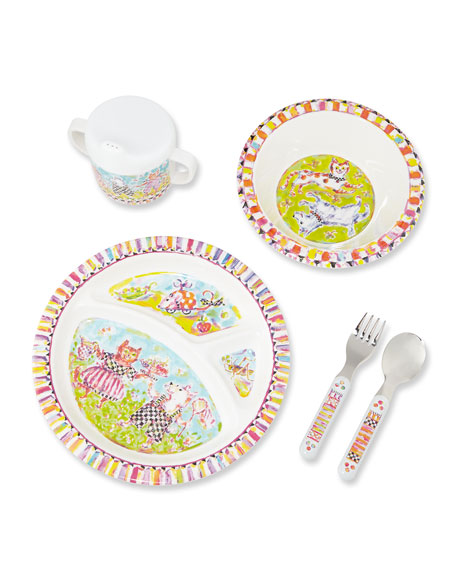 MacKenzie-Childs Toddlers' Bow Wow Meow Dinnerware Set