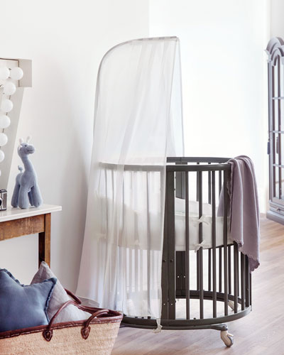 Sleepi Mini Baby Crib Bundle, Haze Gray