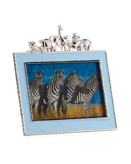 "Boys' Animals 5"" x 7"" Picture Frame, Blue"