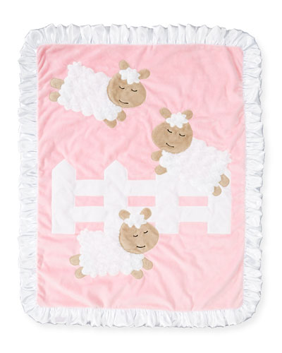 Dreaming of Ewe Plush Baby Blanket