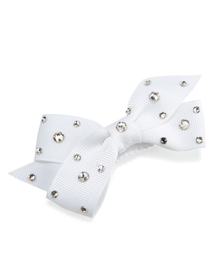 Bari Lynn Girls' Crystal Mini Snap-Clip Hair Bow,
