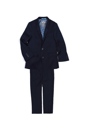 Appaman Boys' Two-Piece Mod Suit, Navy, Size 16