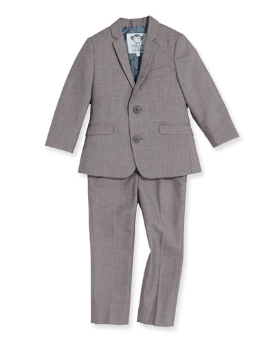 Boys' Two-Piece Mod Suit, Mist, 2T-14