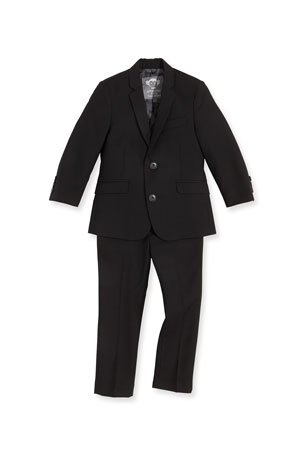 Appaman Boys' Two-Piece Mod Suit, Black, 2T-14