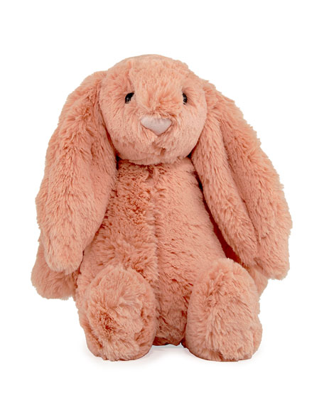 Medium Bashful Bunny Plush Animal, Peach