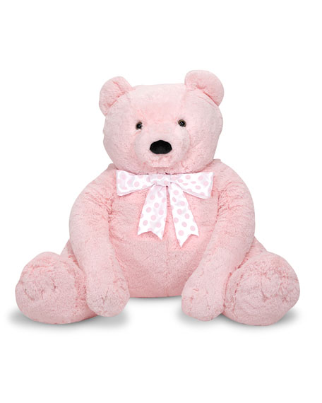 Melissa & Doug Jumbo Teddy Bear, Light Pink