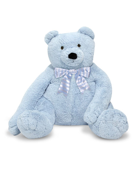 Melissa & Doug Jumbo Teddy Bear, Light Blue