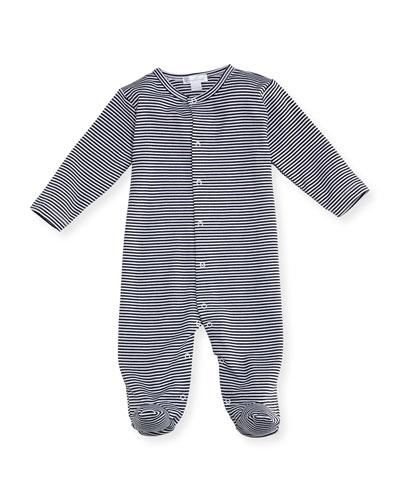 Striped Footie Pajamas, Size 0-9 Months