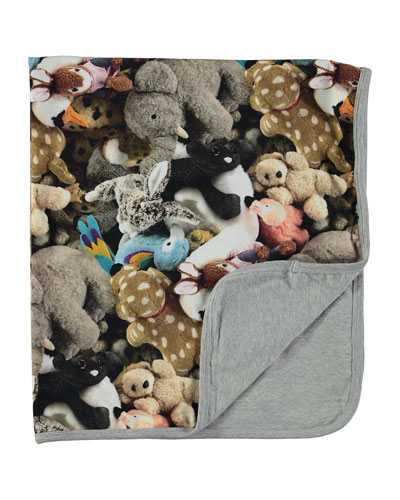 Neala Reversible Friends Forever Stuffed Animal Blanket, Gray