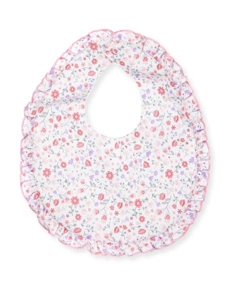 Fall Blossoms Pima Baby Bib, Pink