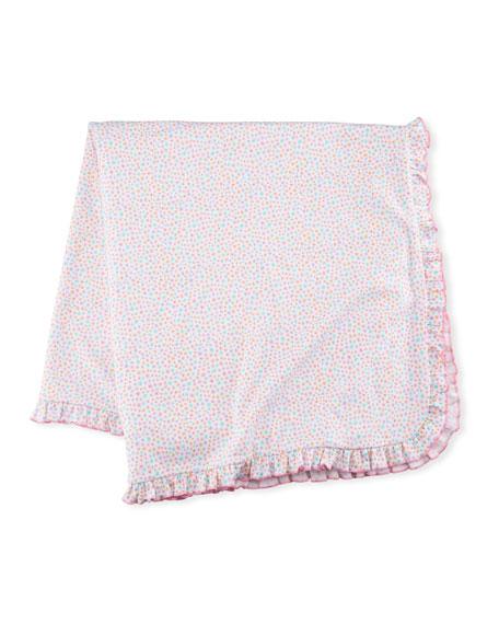 Kissy Kissy Darling Dachshunds Pima Blanket, Pink
