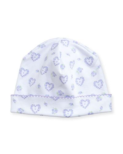 Fleur de L'Amour Printed Pima Baby Hat