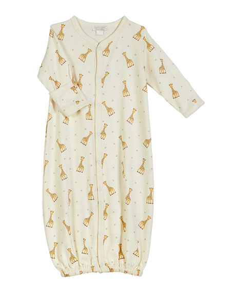 Sophie Giraffe Convertible Gown, Size Premie-12M