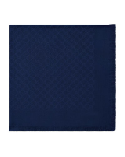Girls' GG Wool/Silk Scarf