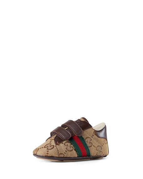GG Supreme Sneaker, Brown, Infant